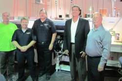 Jon Wentz, Interphase Equipment and Manufacturing Engineer, Chris Guest, JAS Regional Sales Manager, Bob Black, President and CEO of JAS, Greg Kalush, Interphase CEO/President, Jim Gragg, Interphase Vice President, Dee Claybrook (Not Pictured), Southwest Systems Technology, Inc.
