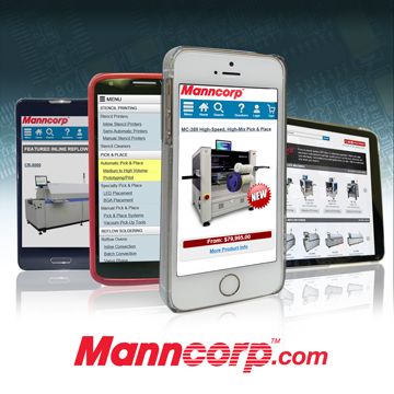 Manncorp's all-new, responsive website that went live in October, making it easier than ever for customers to view specifications, compare prices—even place orders—from any mobile device, tablet, or desktop.